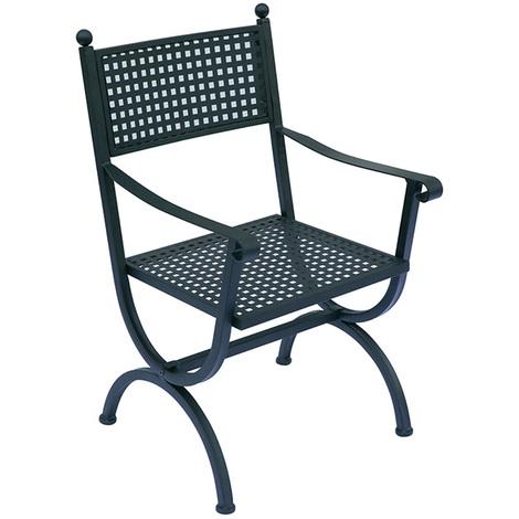 sillón jardín de hierro forjado