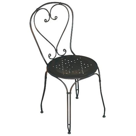 Chaise De Jardin En Fer Forge Noir