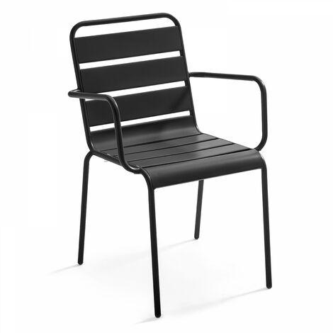 Chaise de jardin en métal