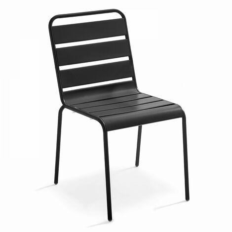 Chaise de jardin en métal Palavas Gris 104073