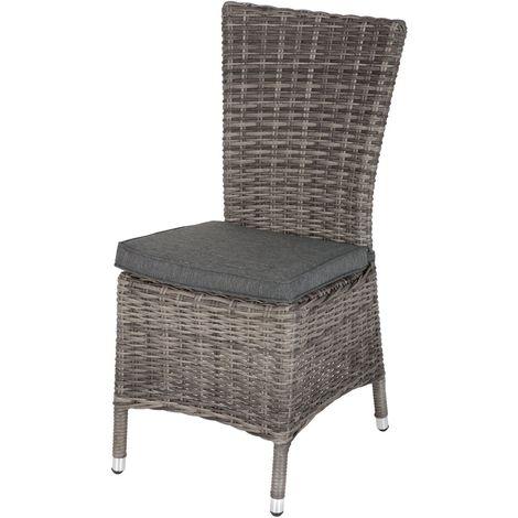 Chaise de jardin en résine tressée Moorea - Gris