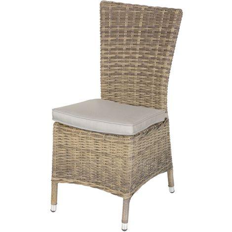 Chaise de jardin en résine tressée Moorea - Marron naturel