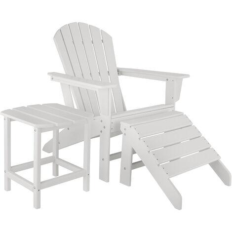 Chaise de jardin JANIS avec repose-pieds JOPLIN et table KAMALA - fauteuil de jardin, fauteuil extérieur, chaise extérieur