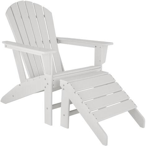 Chaise de jardin JANIS avec repose-pieds JOPLIN - fauteuil avec repose-pieds, ensemble mobilier de jardin, chaise avec repose-pieds