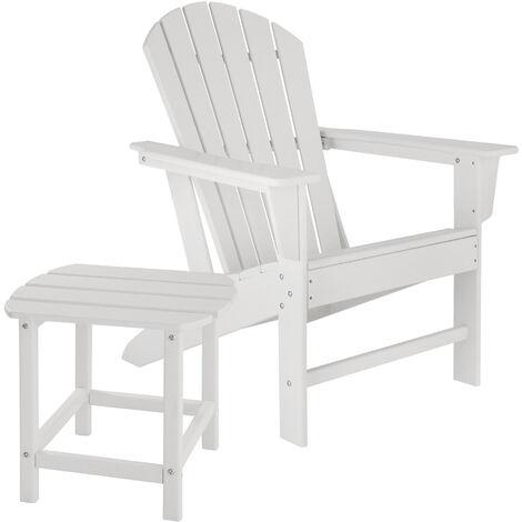 Chaise de jardin JANIS avec table KAMALA - fauteuil de jardin, fauteuil extérieur, chaise extérieur