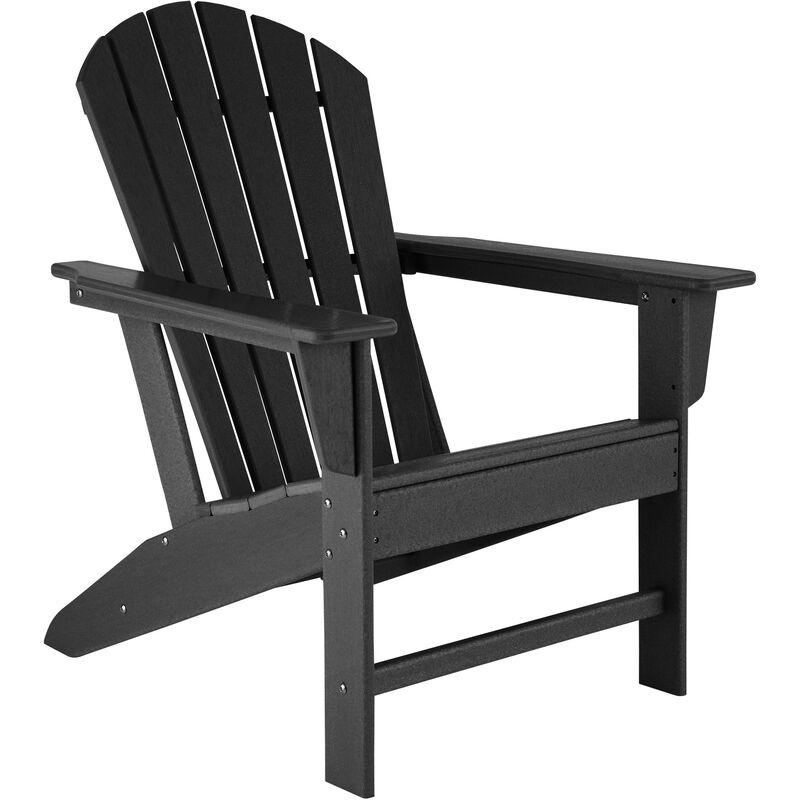 Chaise de jardin JANIS - fauteuil de jardin, fauteuil extérieur, chaise extérieur - noir