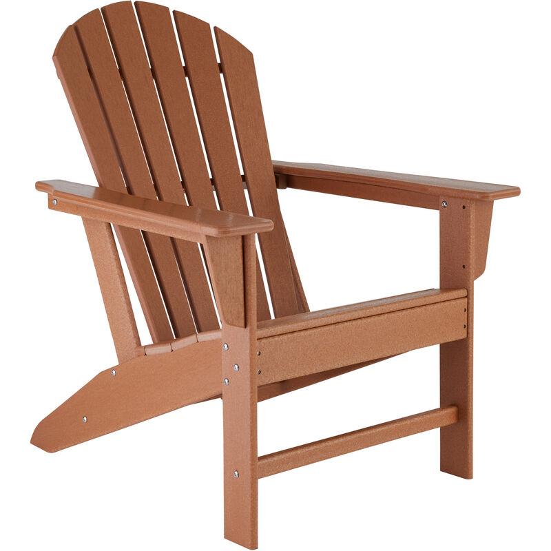 Chaise de jardin JANIS - fauteuil de jardin, fauteuil extérieur, chaise extérieur - marron