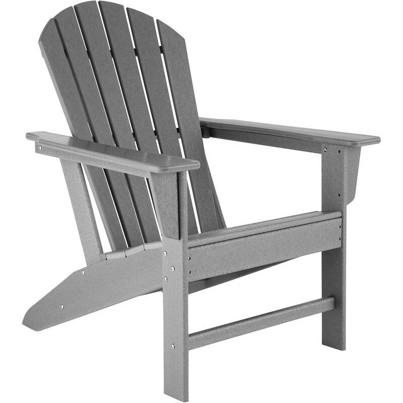 Chaise de jardin JANIS - fauteuil de jardin, fauteuil extérieur, chaise extérieur - gris