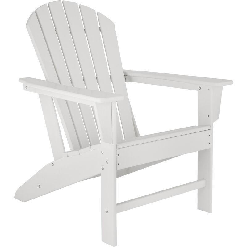Chaise de jardin JANIS - fauteuil de jardin, fauteuil extérieur, chaise extérieur - blanc