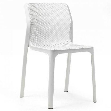 Chaise de jardin moderne et confort Bit NARDI - Blanc - Extérieur ...
