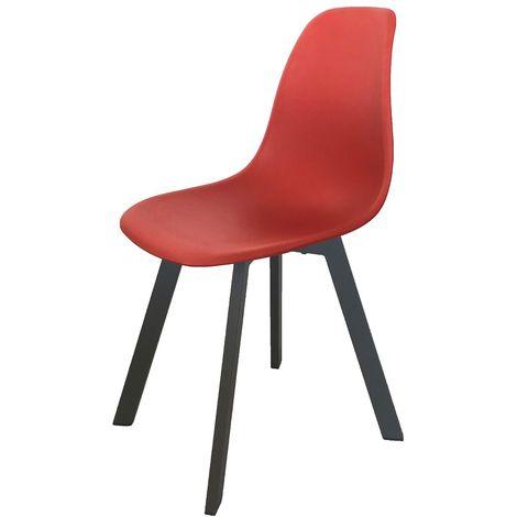 Chaise de jardin moderne Ibis- Rouge - Rouge