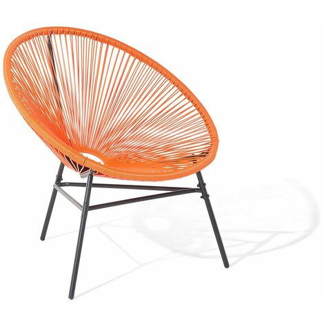 Chaise De Jardin Orange Acapulco