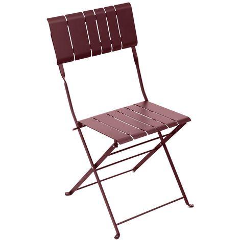 Chaise de jardin pliable design Nasca - Bordeaux - Bordeau