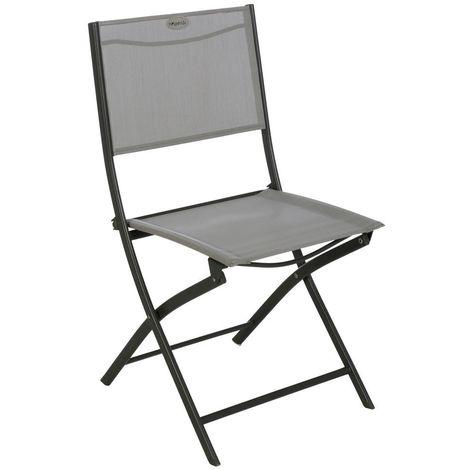Chaise de jardin pliable Modula - Gris galet et graphite