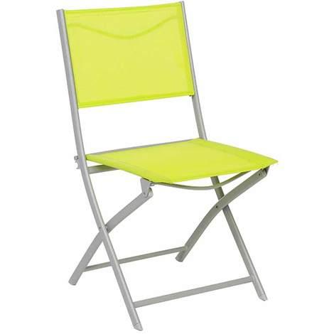 chaise de jardin pliante m tal modula vert gris mat 132332. Black Bedroom Furniture Sets. Home Design Ideas