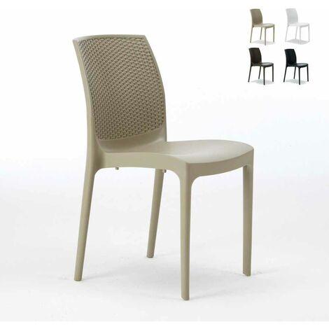 """main image of """"Chaise de Jardin Poly-rotin café bar glaciers empilable Boheme Grand Soleil"""""""