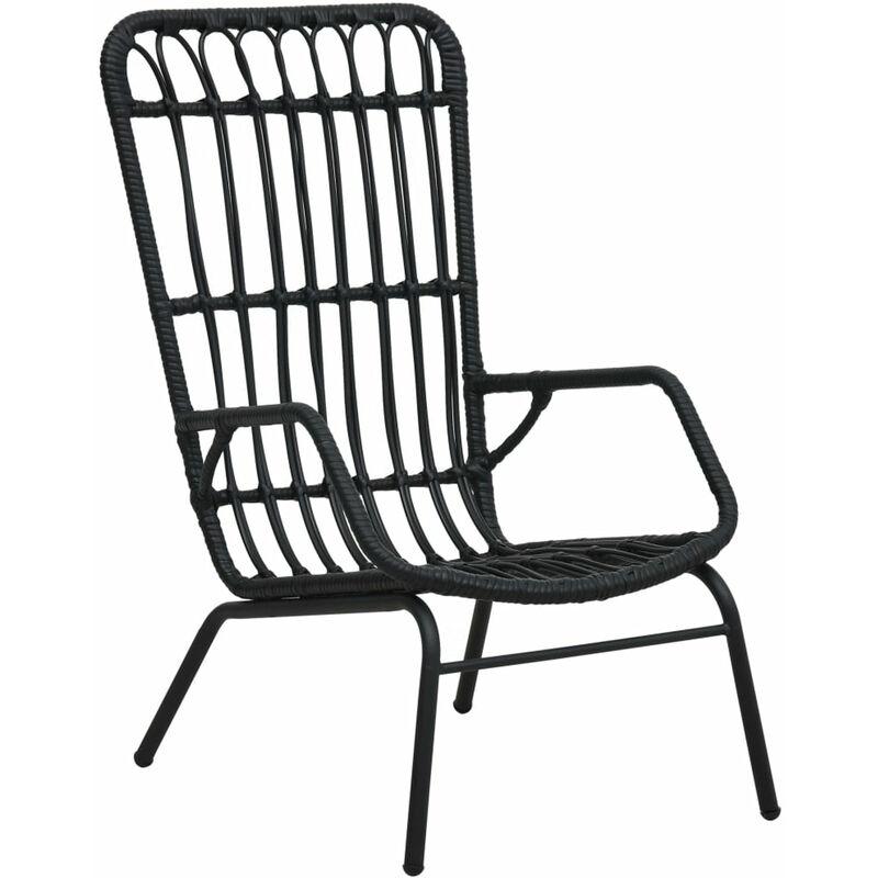 Chaise de jardin Resine tressee Noir