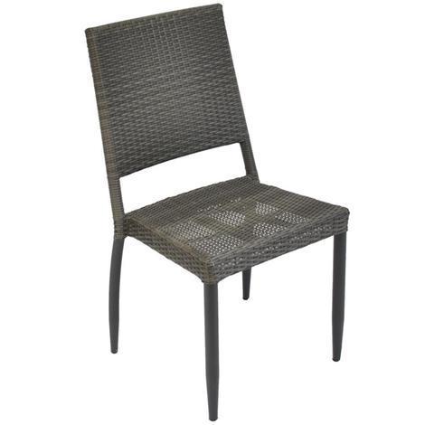 Chaise de jardin Soleo en aluminium et résine tressée ice - Proloisirs