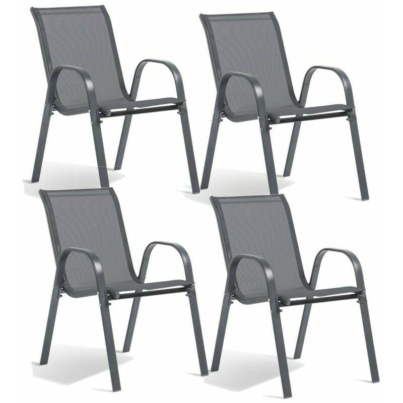 Chaise de jardin textilène - x 4