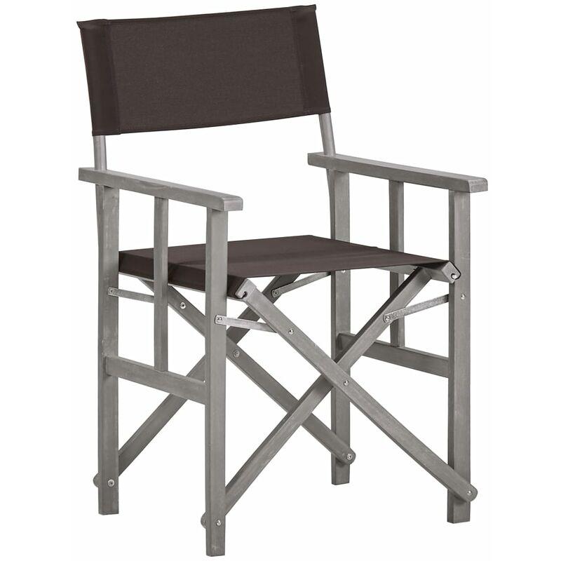 Chaise de metteur en scène Bois massif d'acacia
