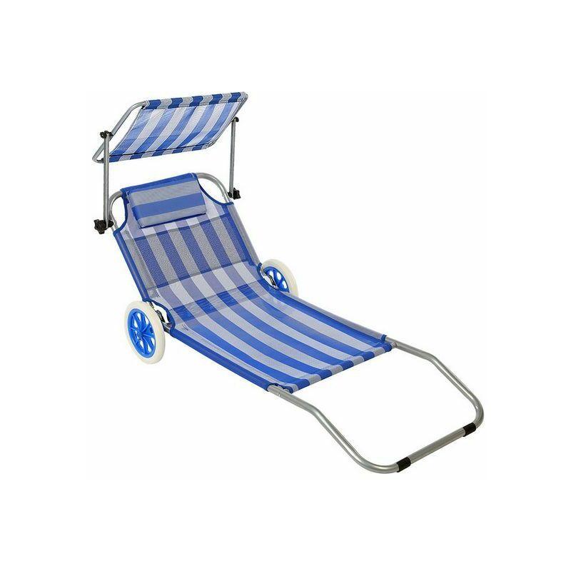 Outdoor - Chaise de plage (150 x 52 x 62 cm)