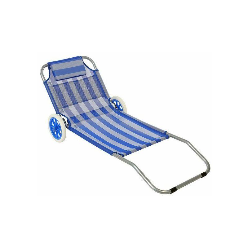 Chaise de plage (150 x 52 x 62 cm)