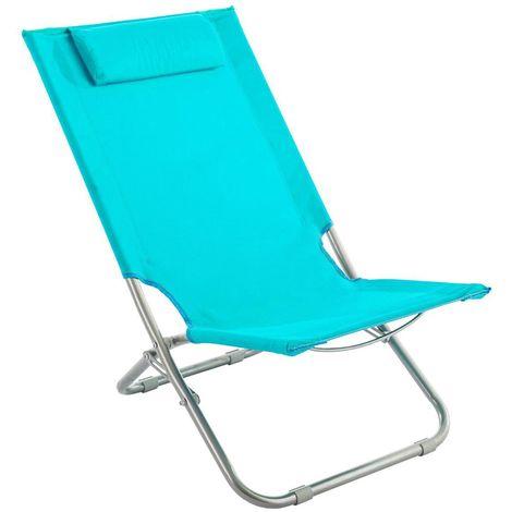 Chaise de plage Caparica - Bleu - Bleu