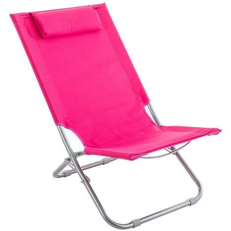 Chaise de plage Caparica - Rose - Rose
