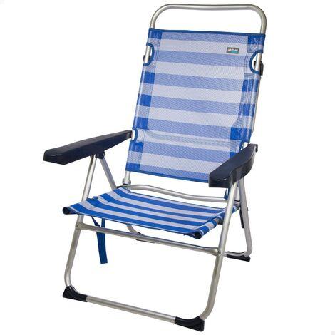 Chaise de plage multi-positions en aluminium, 50 x 64 x 100 cm Red Aktive 53972