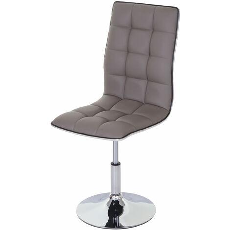 Chaise de salle à manger HHG-272, chaise de cuisine, pivotante et réglable en hauteur, similicuir