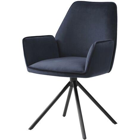 Chaise de salle à manger HHG-851, chaise de cuisine, pivotante, auto-position
