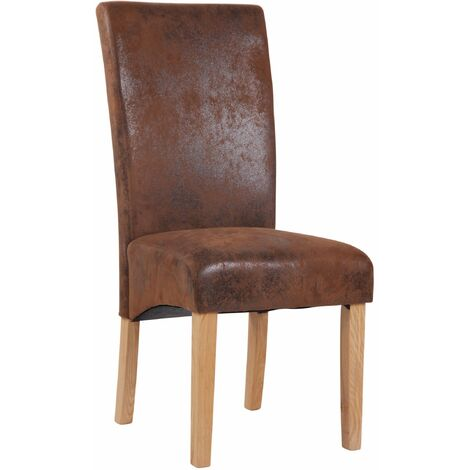 Chaise de salle à manger Levanger style vintage marron