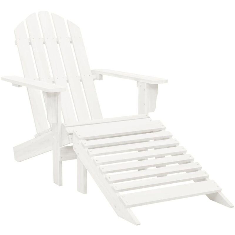 Vidaxl - Chaise de jardin avec pouf Bois Blanc