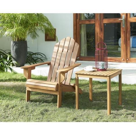 Chaise de salon jardin en bois naturel - 87.5 x 73.5 x 95.5 cm - Aucune