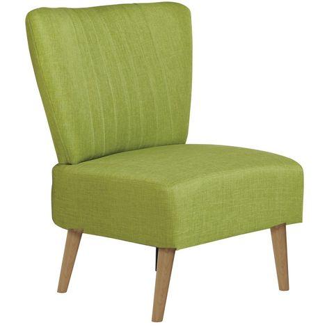 Chaise de salon vintage Louise - H. 82 cm - Vert - Vert