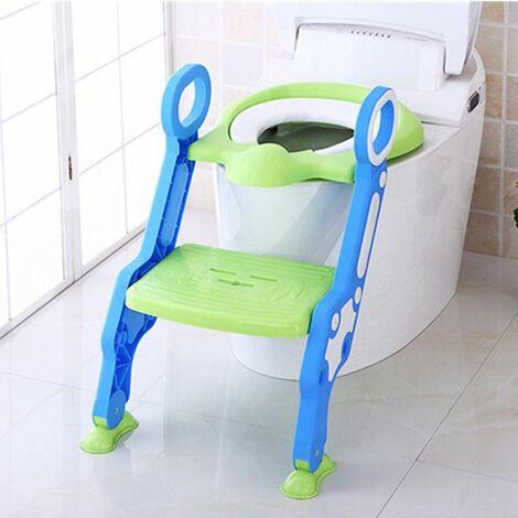 Chaise de siège rembourrée souple pour enfants avec pot de toilette pour enfants + tabouret échelle Step Up Training Sécurité pour bébé Conception d\'urine anti-éclaboussures Siège de toilette