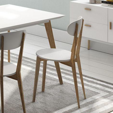 Chaise de table design Compas - Blanc - Intérieur - Blanc