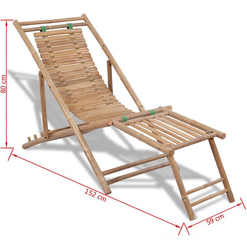 pied de Chaise d'extérieur repose terrasse avec Bambou SzVUMp