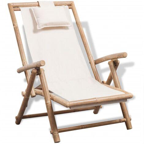 Chaise de terrasse d'exterieur Bambou