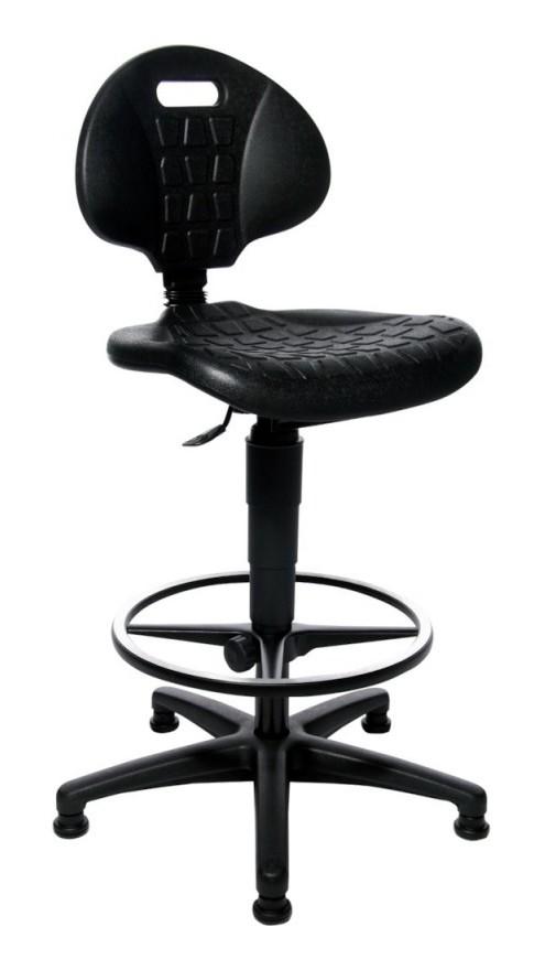 Chaise de travail TEC 20 Counter PU noir