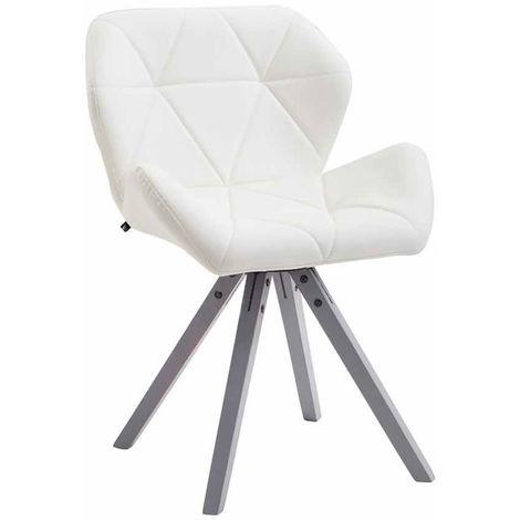 Chaise de visiteur TYLER similicuir pieds carrés