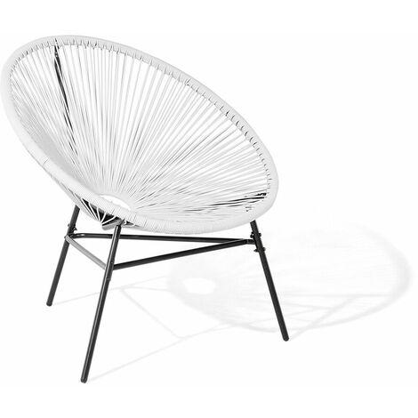 Chaise design de type spaghetti blanche pour salon ou terrasse