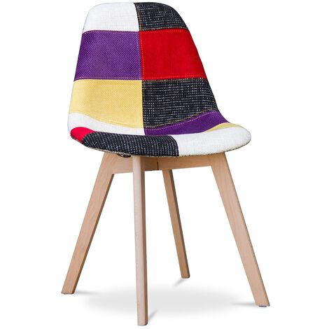 Chaise design Deswick - Patchwork Tessa Multicolore