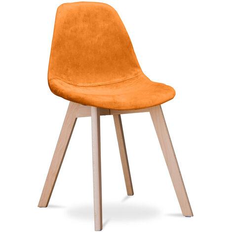 Chaise design Deswick - Tissu Gris clair