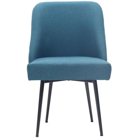 Chaise design en tissu pieds métal LOV