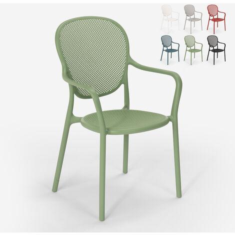 Chaise design moderne pour restaurant bar cuisine extérieure en polypropylène Clara