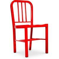 Chaise Design Navy Style - Acier Rouge