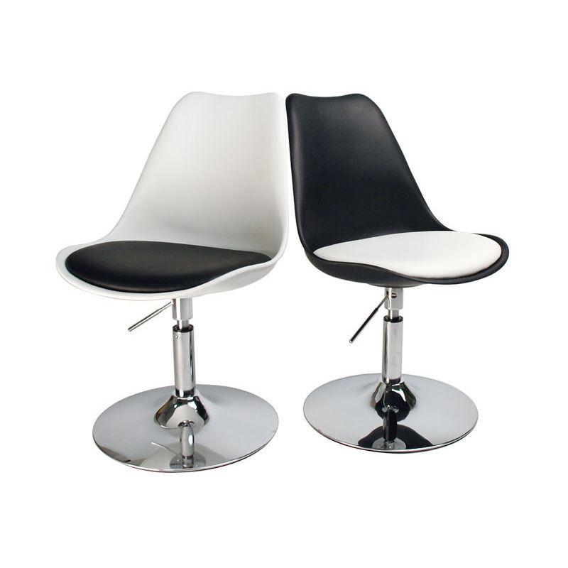 Chaise design pivotante avec assise STEEVY