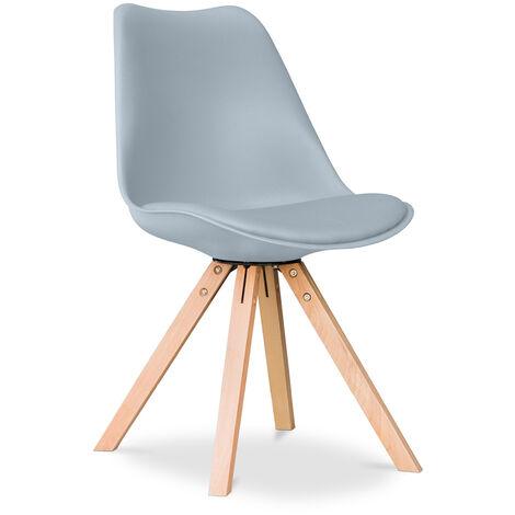 Chaise Design scandinave avec coussin Deswick Rouge