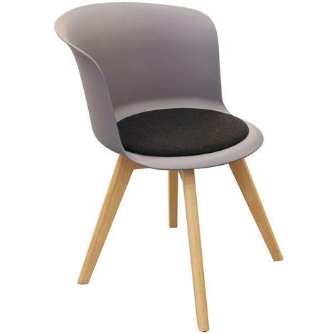 Chaise design scandinave Enko - Gris - Gris